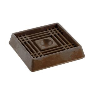 Shepherd 2 In Brown Smooth Rubber Furniture Cups 4 Per