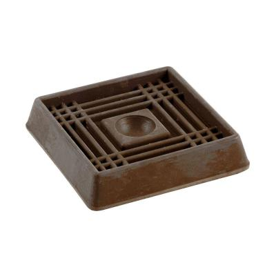 2 in. Brown Smooth Rubber Furniture Cups (4 per Pack)
