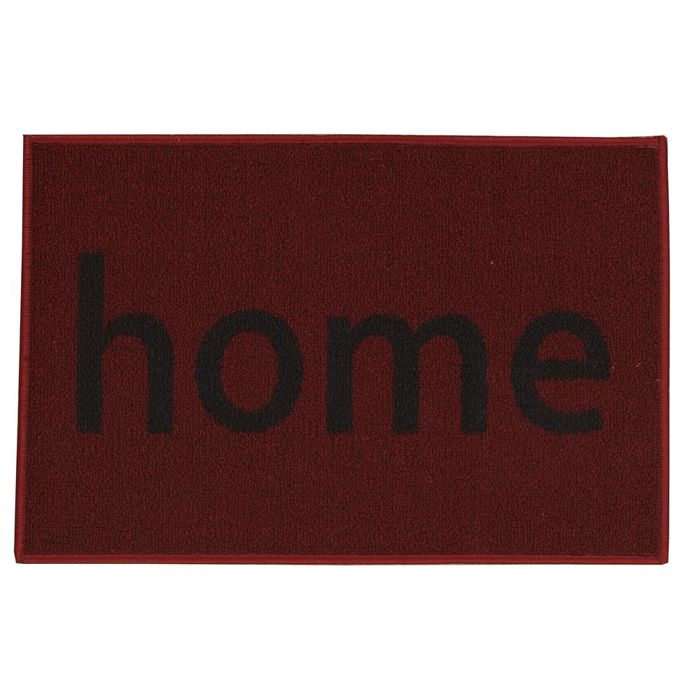 Ottomanson Doormat Collection Rectangular Red Home 20 in. x 30 in. Door Mat was $12.63 now $7.58 (40.0% off)