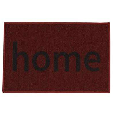 Doormat Collection Rectangular Red Home 20 in. x 30 in. Door Mat