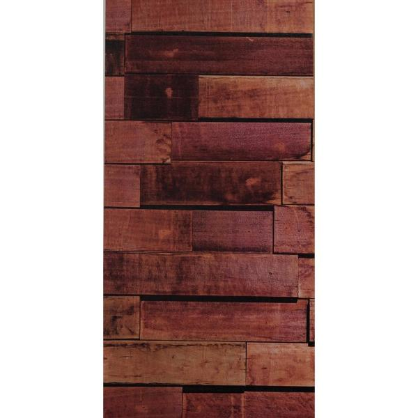 Decowall New York Vanilla Wood Peel and Stick 3D-Effect Self Adhesive DIY Wallpaper F-4069 - The Home Depot