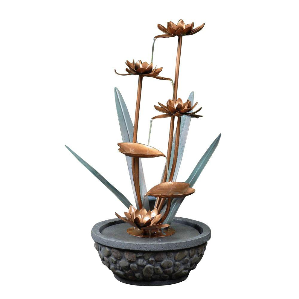 Fountain Cellar Metal Flower Outdoor Water Fountain Fcl060