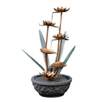 Metal Flower Outdoor Water Fountain