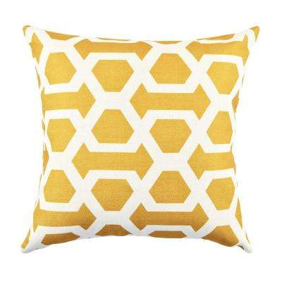 18 in. x 18 in. Bold and Electric Yellow Pillow