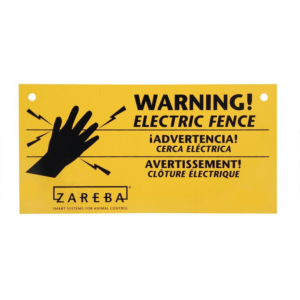 Zareba Electric Fence Warning Sign (3-Pack)-WS3