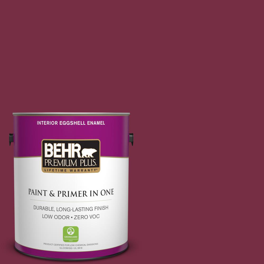BEHR Premium Plus 1 gal. #S-H-110 Wine Tasting Eggshell Enamel Zero VOC Interior Paint and Primer in One