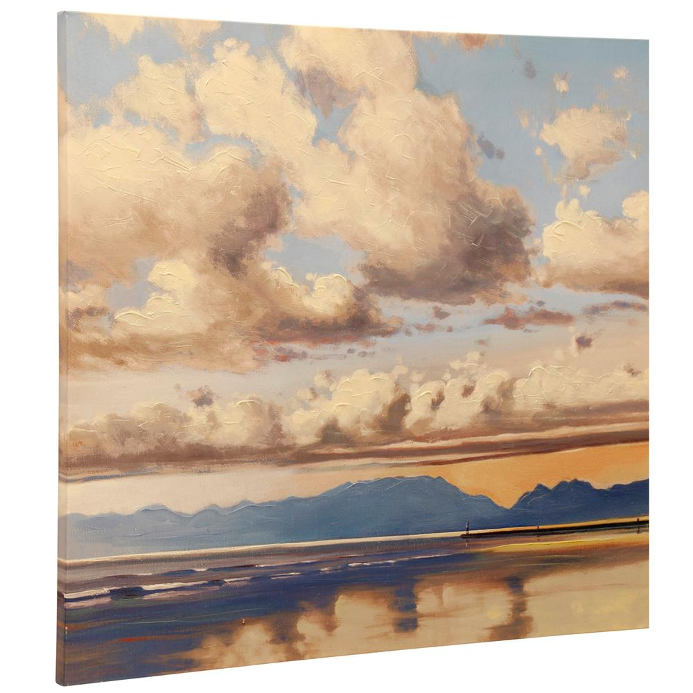 StyleCraft Clouds Roll Multicolored Canvas Wall Art was $162.99 now $46.32 (72.0% off)