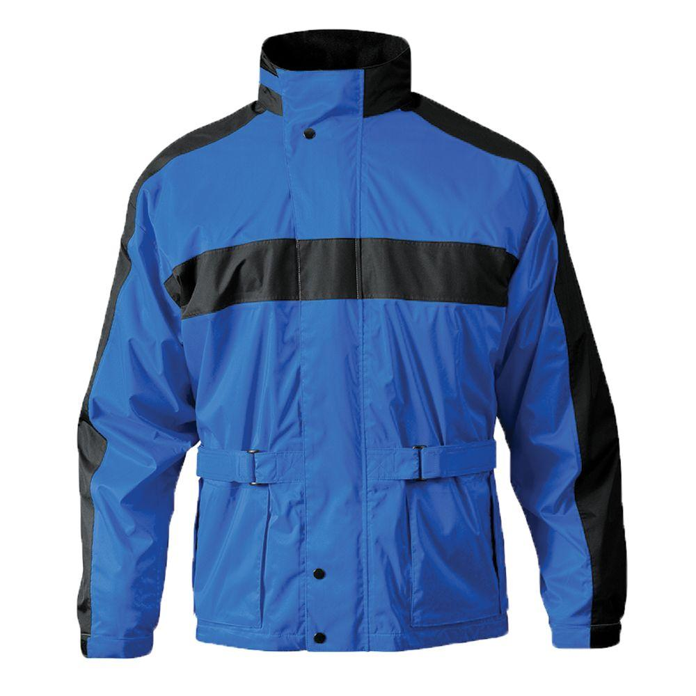 Mossi Mens RX 2 Large Rain Jacket in Royal Blue