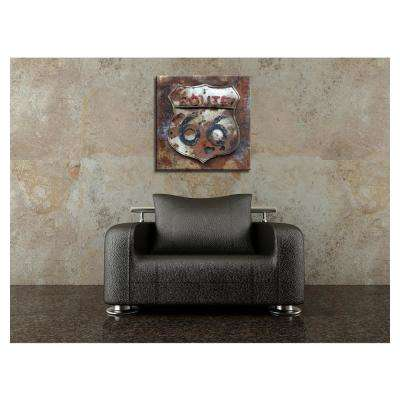 "31 in. x 31 in. ""Route 66"" Metal Wall Art"