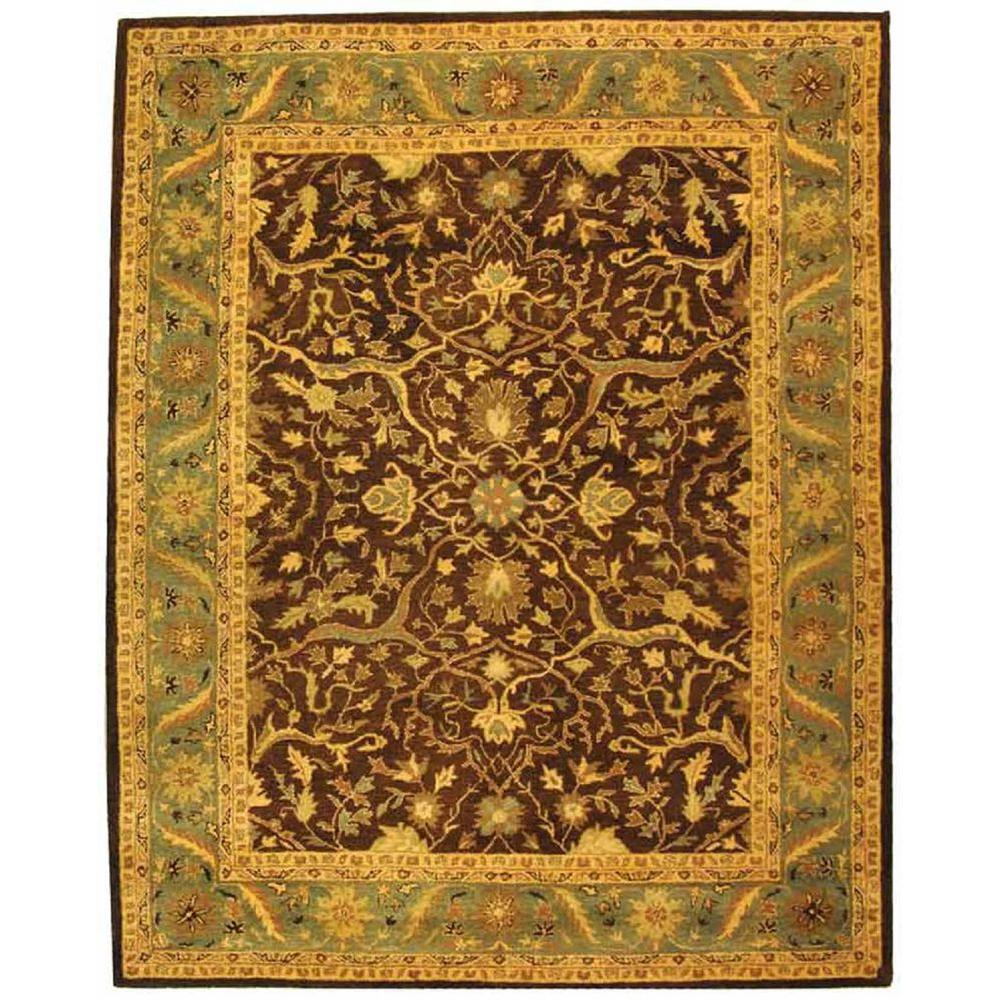 Antiquity Brown/Green 7 ft. 6 in. x 9 ft. 6 in.