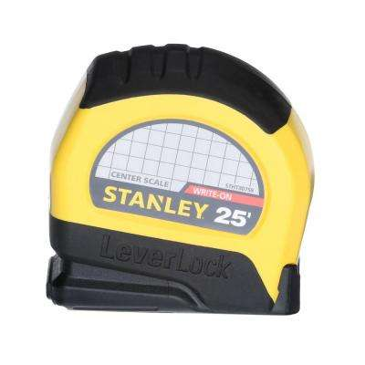 LeverLock 25 ft. x 1 in. CC Center Tape Measure
