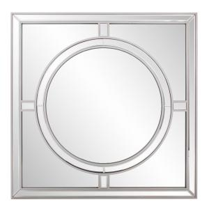 Arwen Large 40 in. x 40 in. Modern Square Framed Wall Mirror