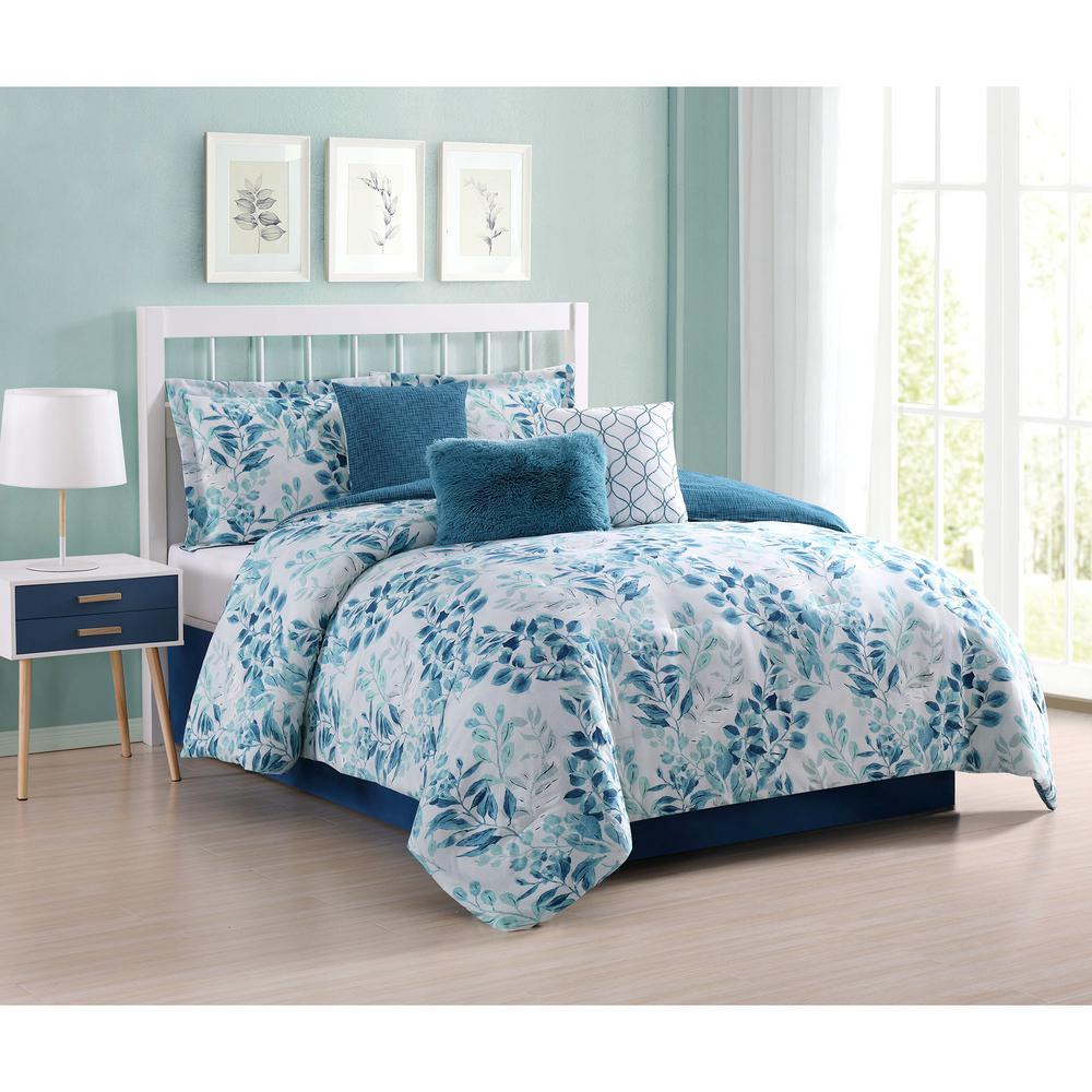 Martina Floral 7-Piece Queen Comforter Set