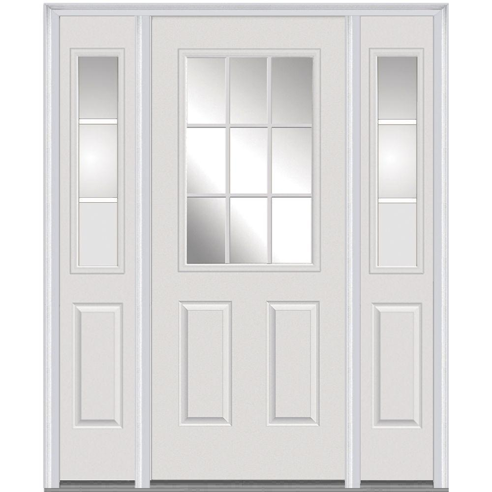 entry doors with glass. 60 in  x 80 GBG Right Hand 1 2 Lite Front Doors Exterior The Home Depot