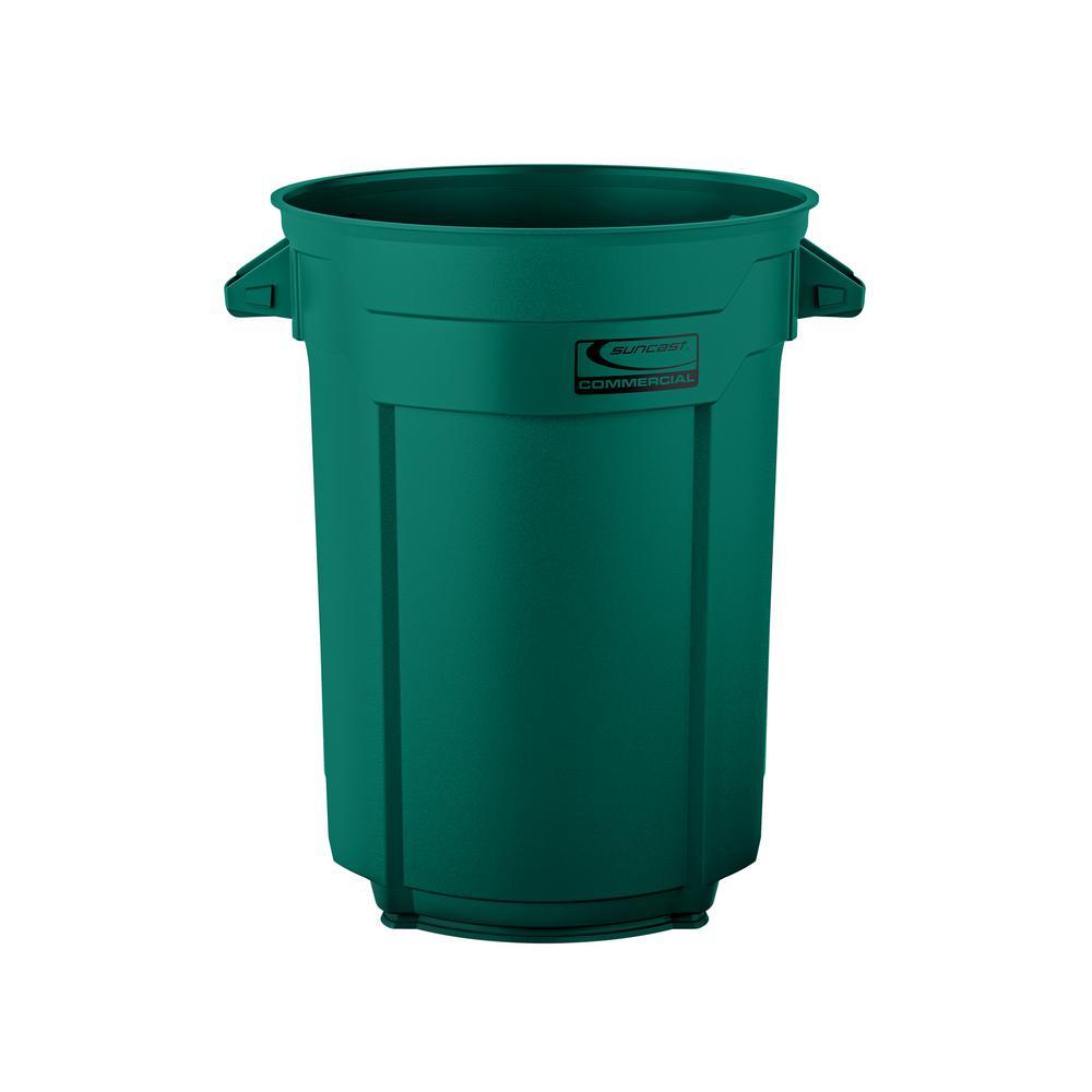 55 Gal. Dark Green Commercial Trash Can