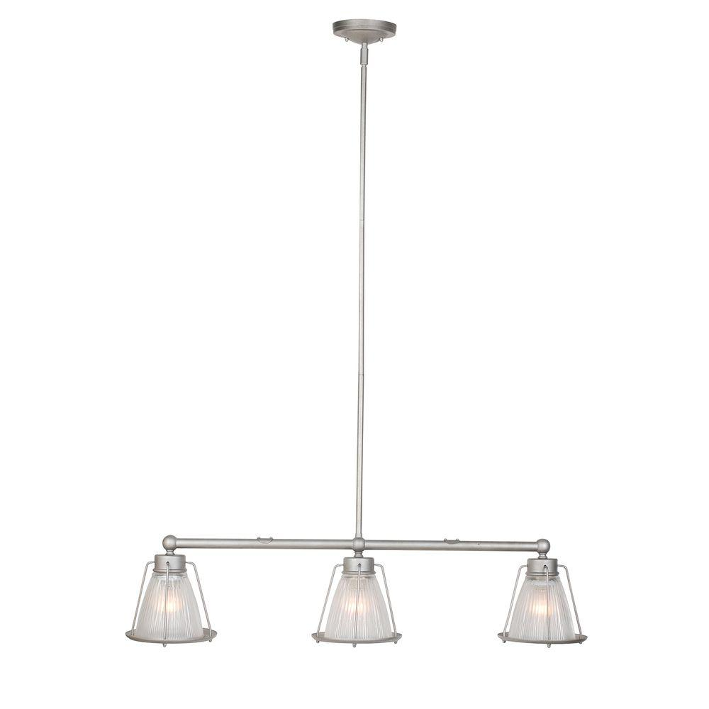 Design House Essex 3-Light Galvanized Steel Indoor Pendant