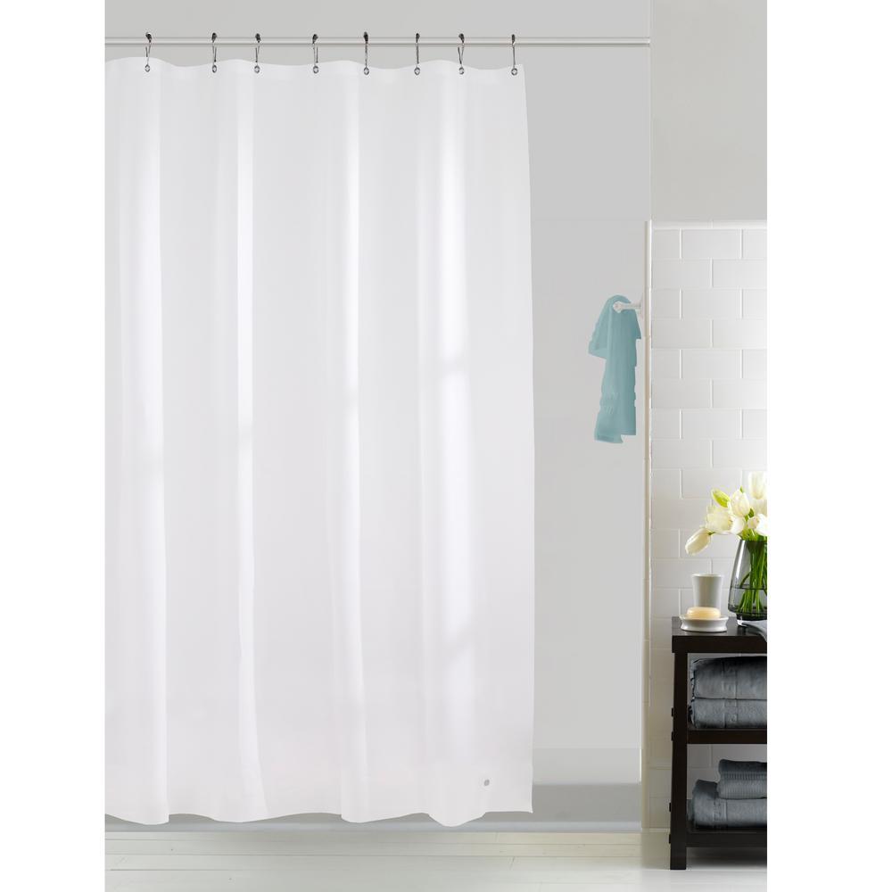 """New Splash Home Premium Medium Weight Vinyl Shower Curtain 70/"""" x 71/"""" in Clear"""