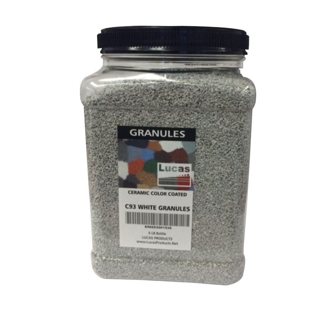 96 oz. White Asphalt Roof Coating Granules
