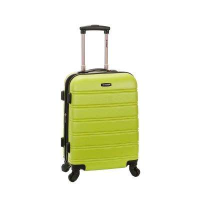 Melbourne 20 in. Expandable Carry on Hardside Spinner Luggage, Lime