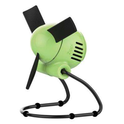 Zippi 7 in. Personal Soft-Blade Fan in Sublime Green
