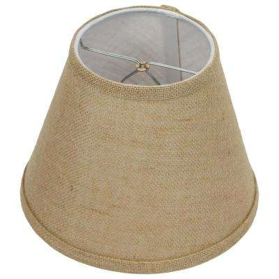 5 in. Top Diameter x 9 in. Bottom Diameter x 7 in. Slant Burlap Natural Empire Lamp Shade