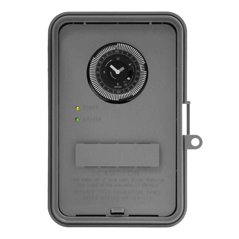 40 Amp Auto-Volt Dial Industrial Timer Switch - Gray