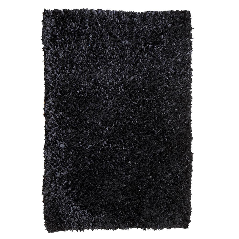 Comfy Shag Black 5 ft. x 7 ft. Area Rug