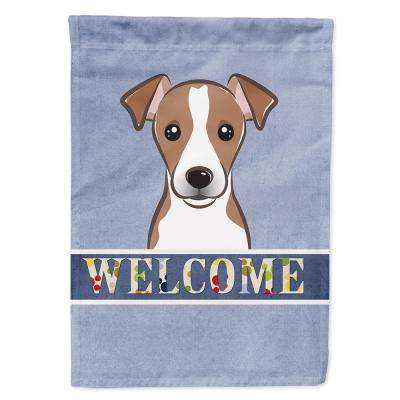 11 in. x 15-1/2 in. Polyester Jack Russell Terrier Welcome 2-Sided 2-Ply Garden Flag