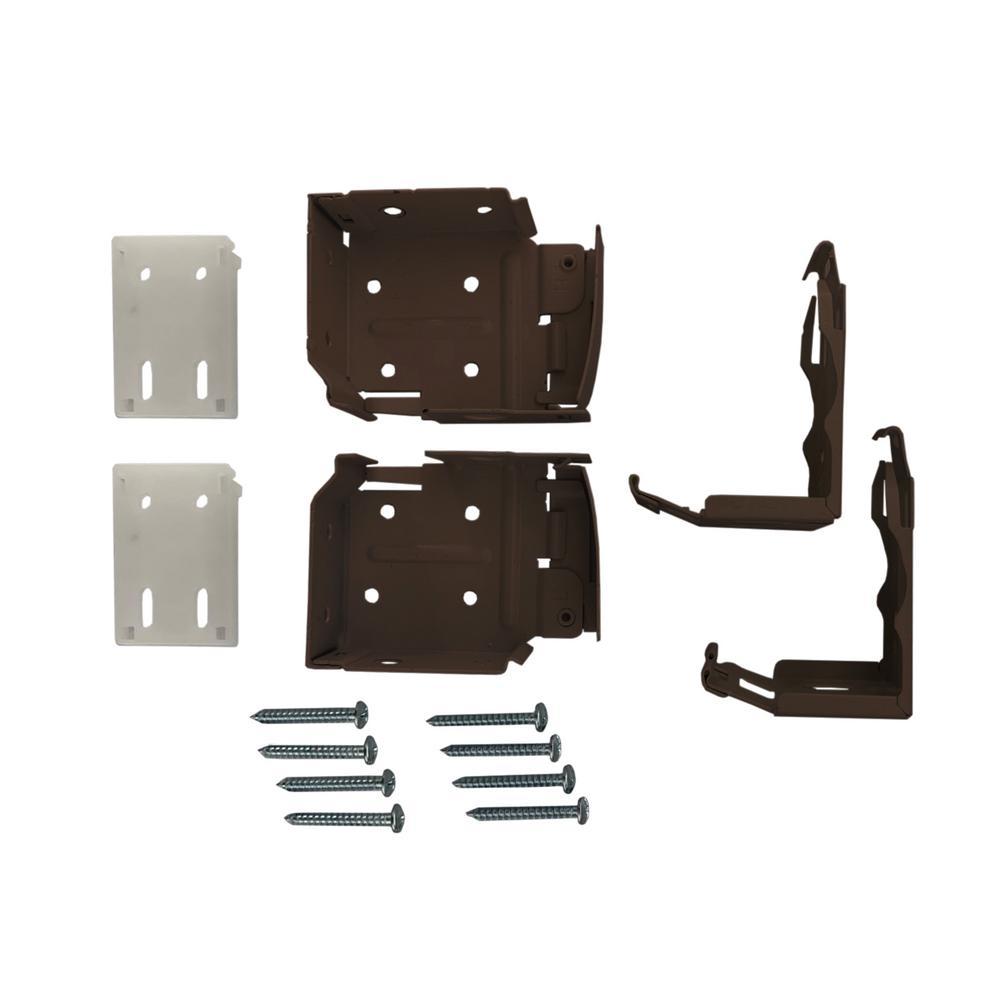 2-1/2 in. Cordless Faux Wood Side Mounting Brackets Set in Espresso