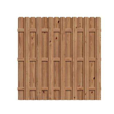 6 ft. x 6 ft. Pressure-Treated Cedar-Tone Wood Moulded Multi Style Fence Panel