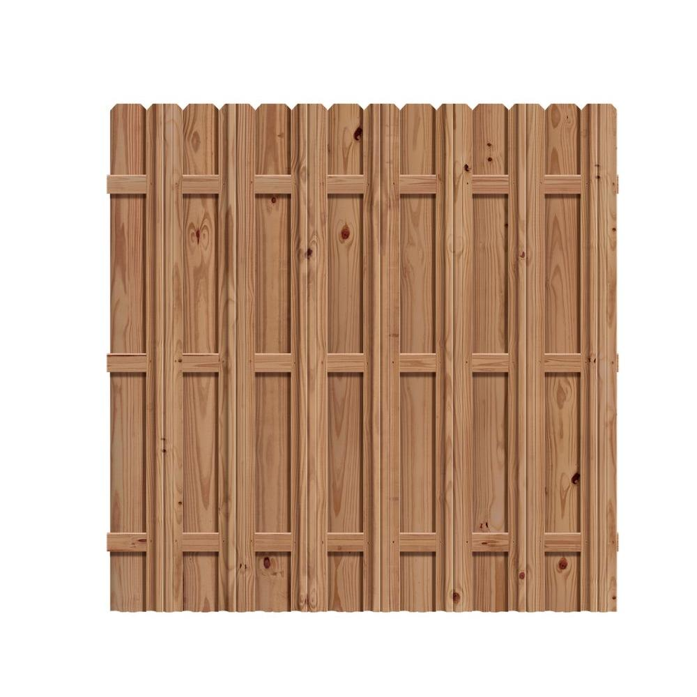 Outdoor Essentials 6 Ft X Pressure Treated Cedar Tone Wood Moulded Multi Style Fence Panel