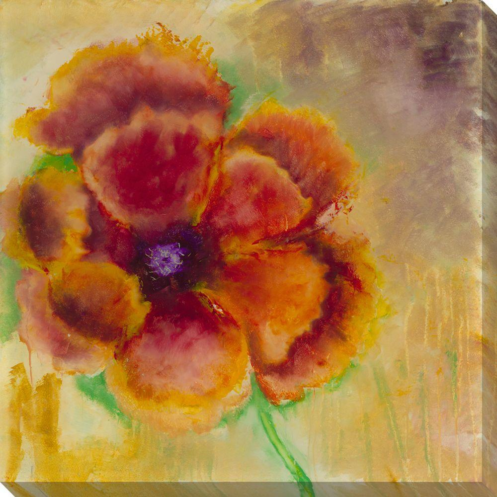 NEP Art 40 in. x 40 in. Blossom on Gold Oversized Canvas Gallery Wrap
