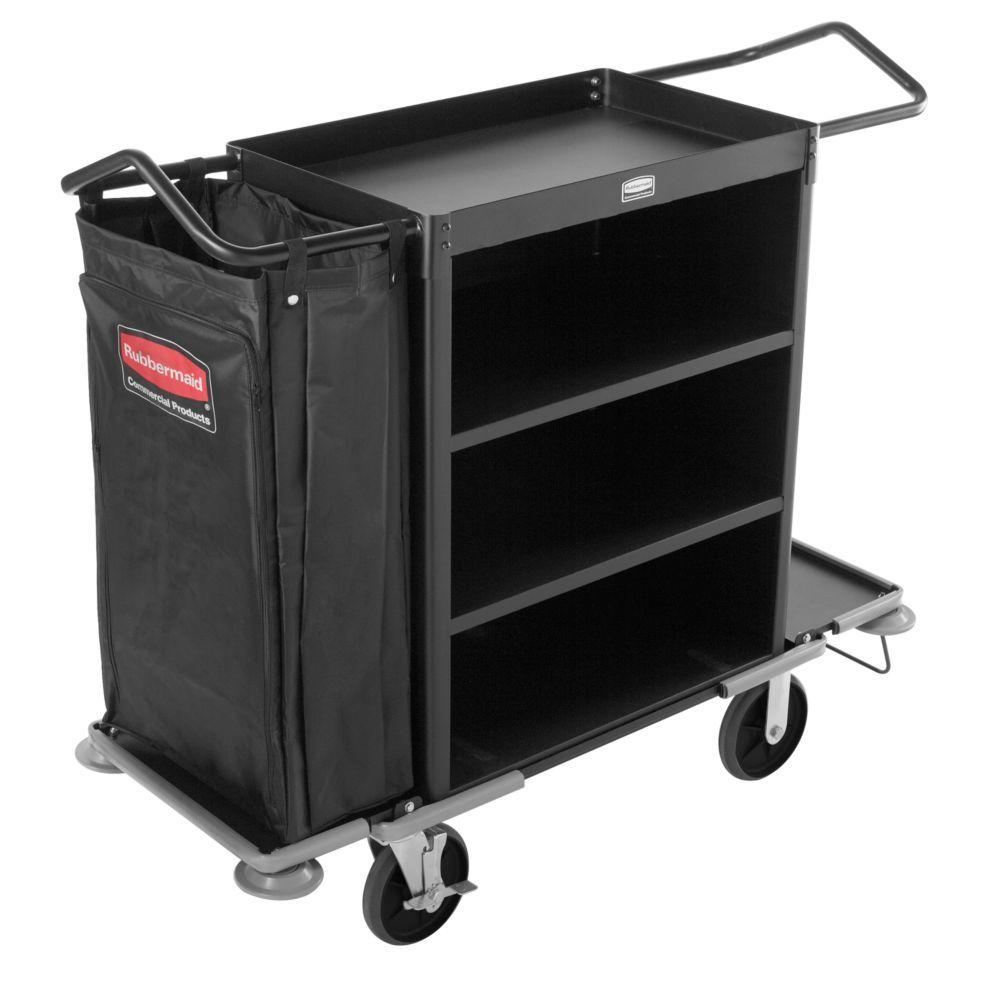 Rubbermaid Commercial Products Executive Series Deluxe 3-Shelf High Capacity Housekeeping Cart