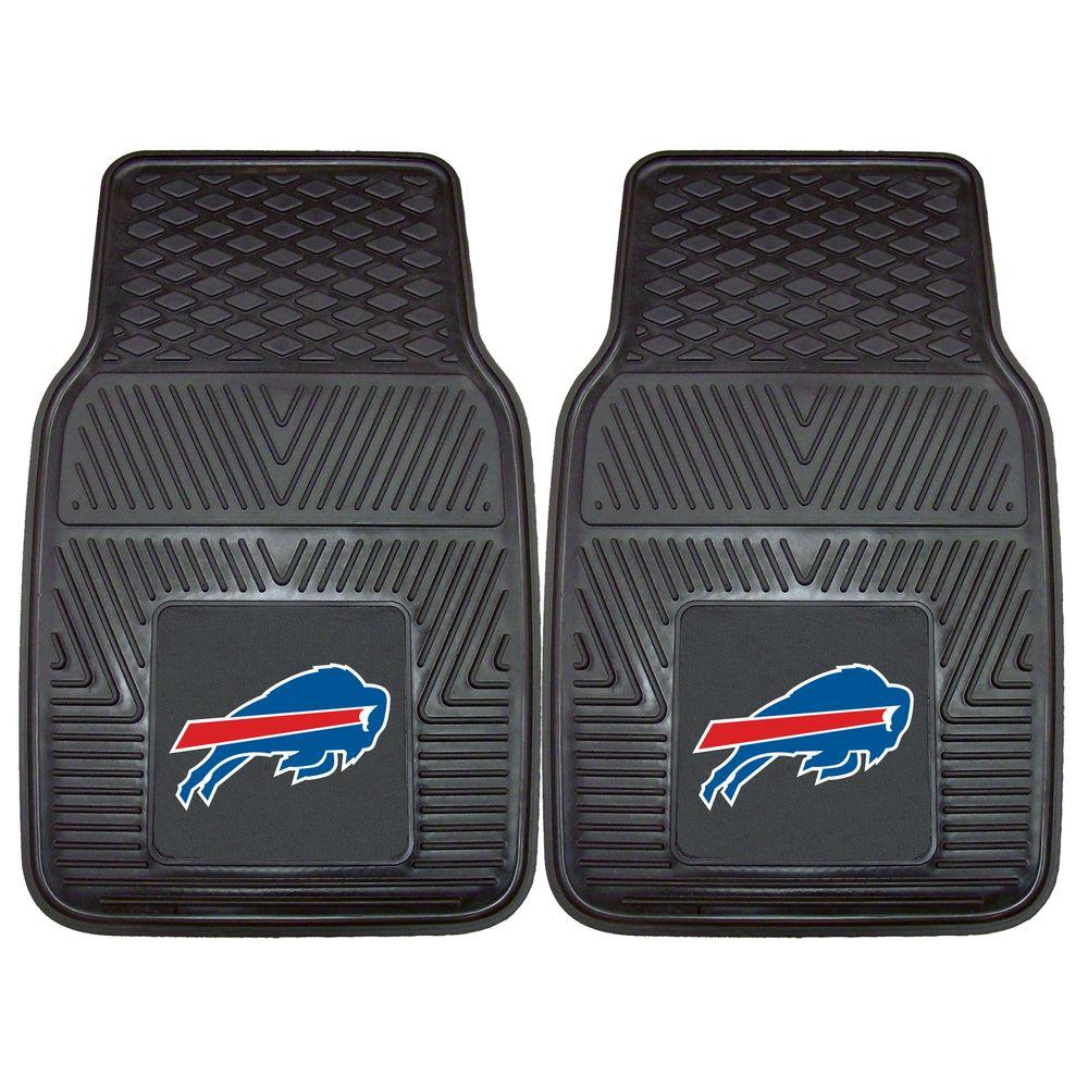 FANMATS Buffalo Bills 18 in. x 27 in. 2-Piece Heavy Duty Vinyl Car Mat