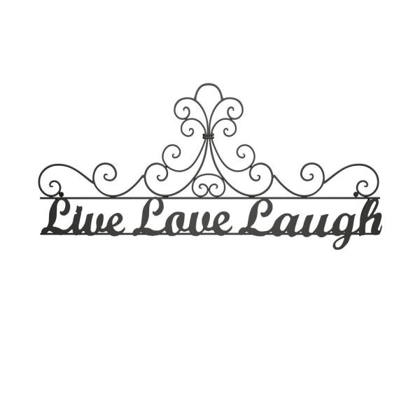 Lavish Home Live Laugh Love Metal Cutout Sign Hw0200062 The Home Depot,Country Farmhouse Kitchen Lighting Ideas