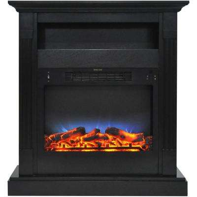 Sienna 34 in. Electric Fireplace with Multi-Color LED Insert and Black Coffee Mantel