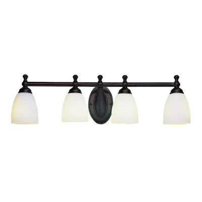 Eleanor 4-Light Rubbed Oil Bronze Bath Light