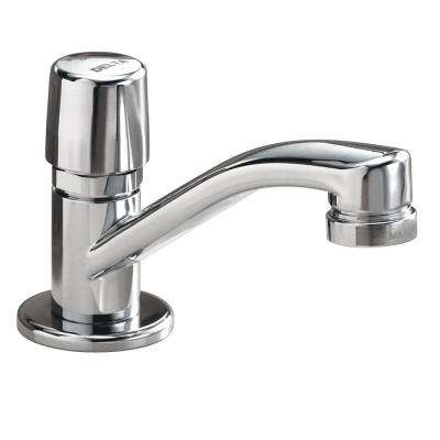 Single-Handle Metering Utility Faucet in Chrome