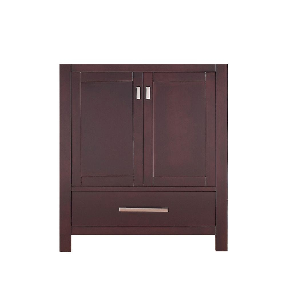 Modero 30 in. W Vanity Cabinet Only in Espresso