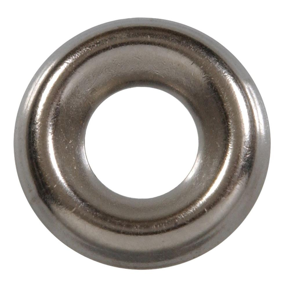 The Hillman Group #8 Stainless Steel Finish Washer (80-Pack)