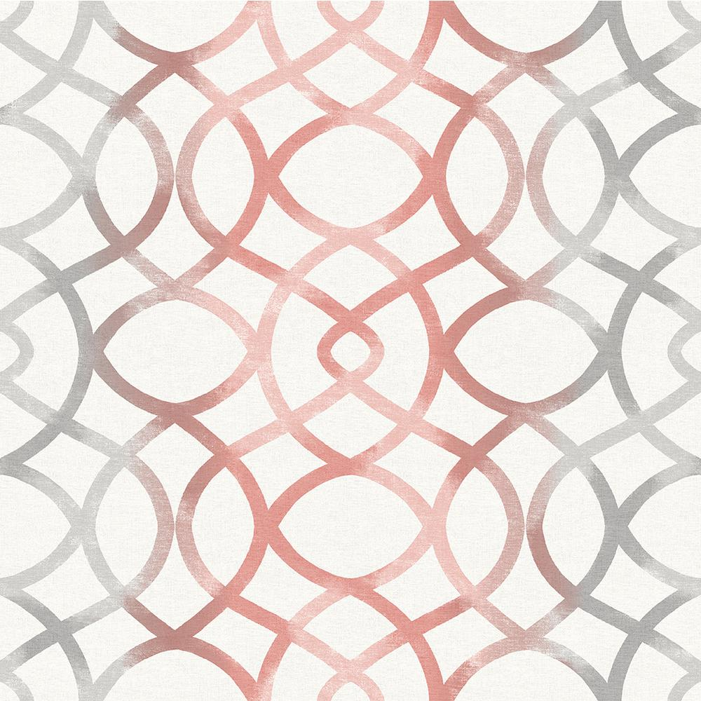 A Street Twister Coral Trellis Wallpaper 2697 78031 The