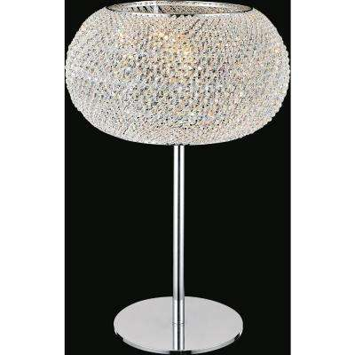 Tiffany 20 in. Chrome Table Lamp