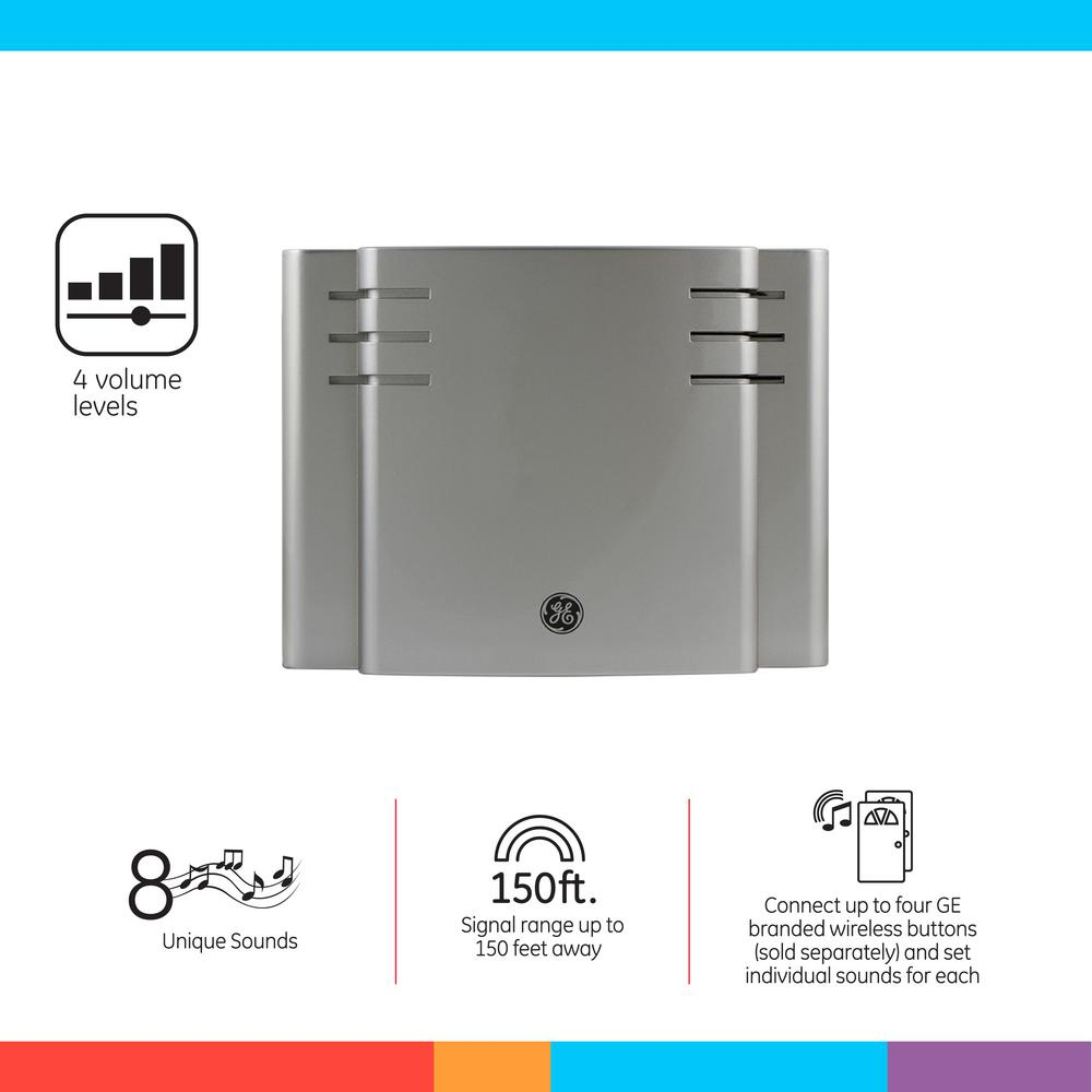 Ge Wireless Door Chime With 8 Sounds