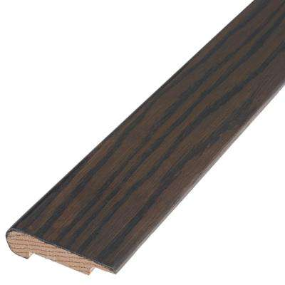 Weathered 3/8 in. Thick x 2-3/4 in. Wide x 78 in. Length Engineered Hardwood Overlap Stair Nose Molding