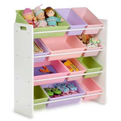 33.25 in. x 36 in. Kids Storage 12-Cube Organizer in White