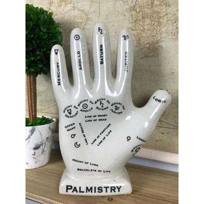 Porcelain Palmistry Hand Desktop Decor