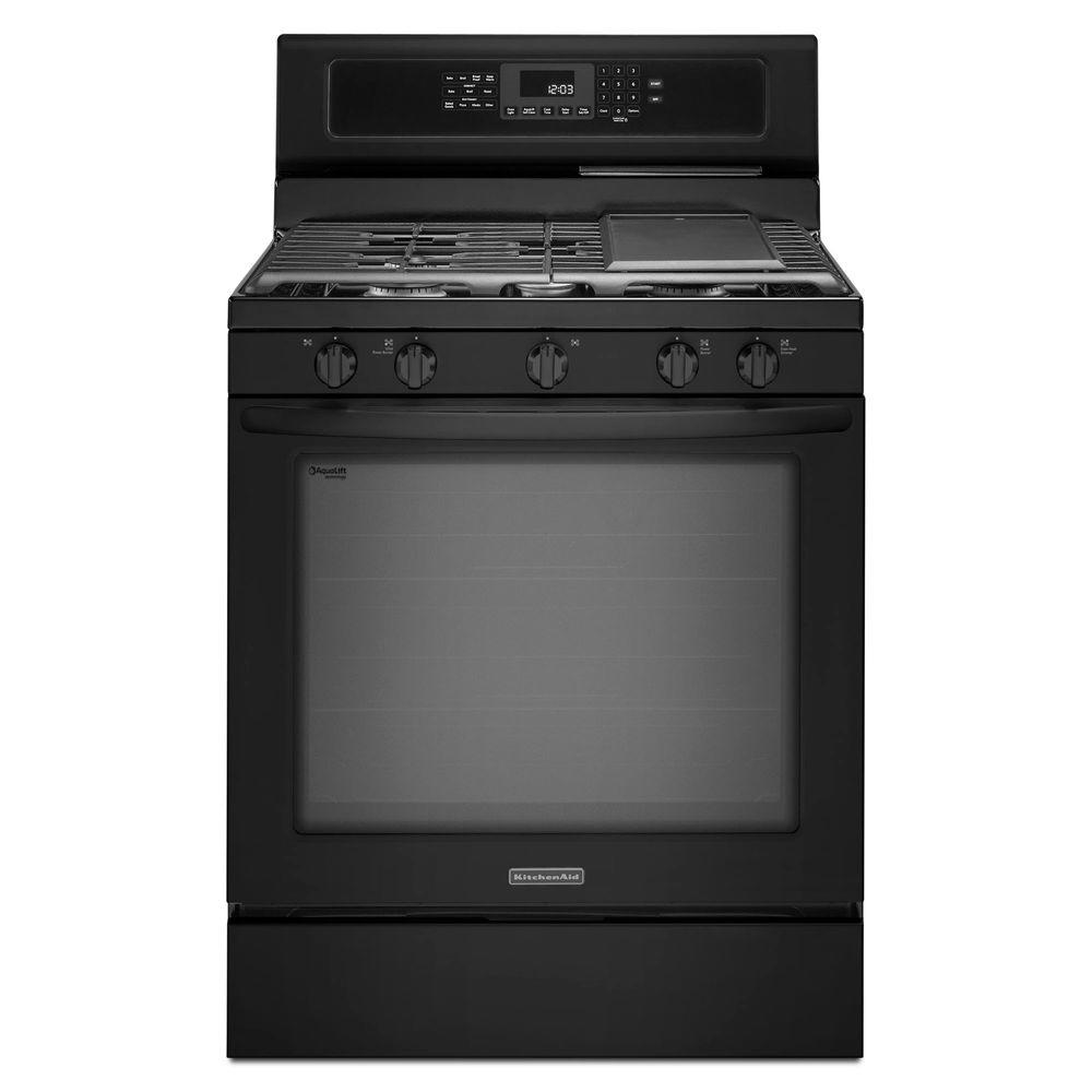 KitchenAid Architect Series II 5.8 cu. ft. Gas Range with Self-Cleaning Convection Oven in Black