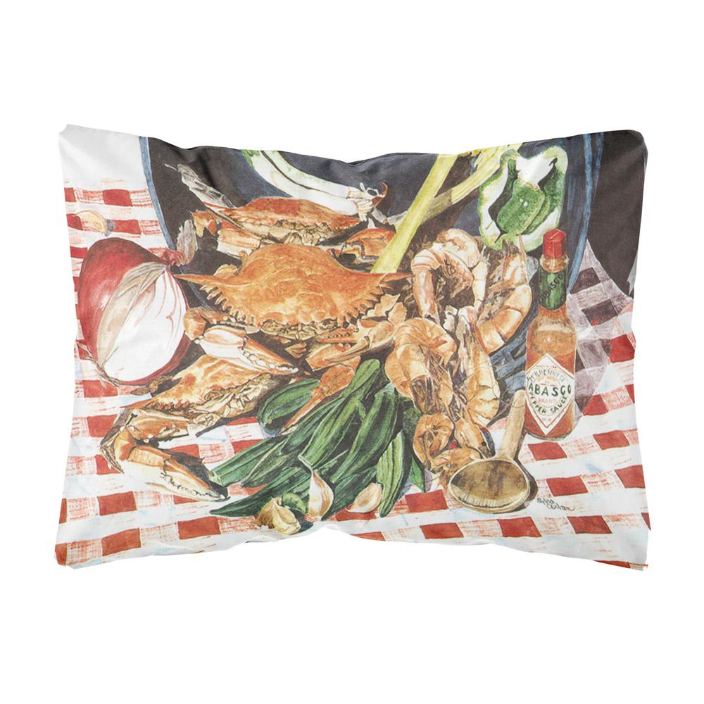 Caroline 39 s treasures 12 in x 16 in multi color lumbar - Fabric for throw pillows ...