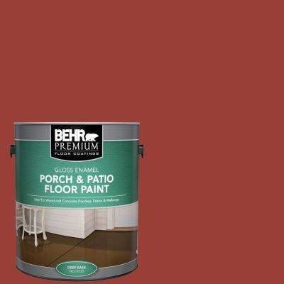 1 gal. #S-H-190 Antique Red Gloss Enamel Interior/Exterior Porch and Patio Floor Paint