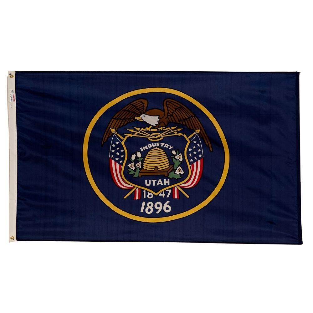 3 ft. x 5 ft. Nylon Utah State Flag